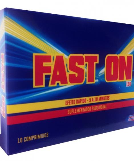 FAST ON 100 - 10 UN - NOVO! SUBLINGUAL, AÇÃO RÁPIDA OHLALA