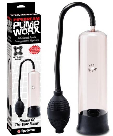 BOMBA PARA O PÉNIS PUMP WORX ROOKIE OF THE YEAR PUMP