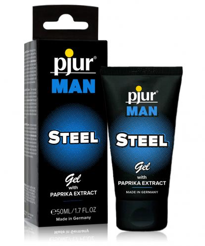 GEL ESTIMULANTE STEEL COM PAPRIKA PJUR MAN 50ML