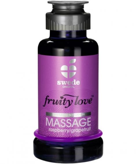 ÓLEO DE MASSAGEM FRUITY LOVE FRAMBOESA E TORANJA 100ML