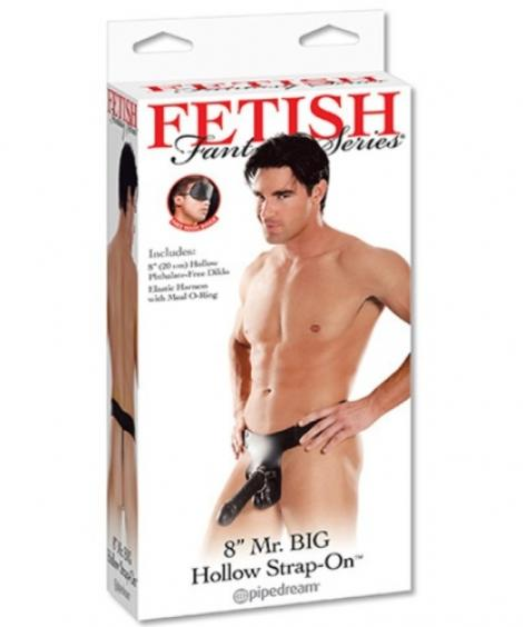 STRAP-ON OCO 8'' MR. BIG HOLLOW FETISH FANTASY SERIES PRETO