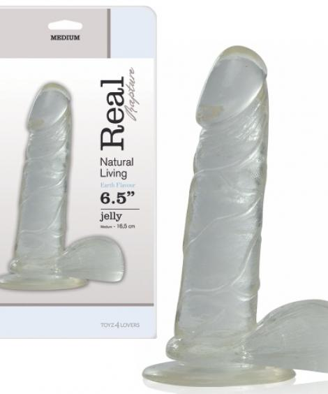 DILDO REAL RAPTURE EARTH FLAVOUR 6.5'' TRANSPARENTE
