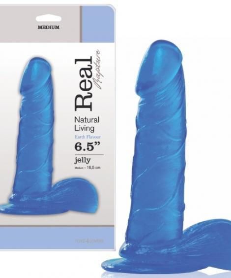 DILDO REAL RAPTURE EARTH FLAVOUR 6.5'' AZUL