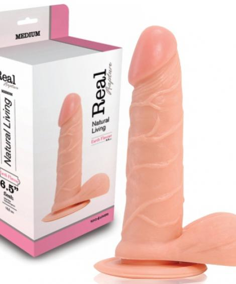DILDO REALÍSTICO REAL RAPTURE EARTH FLAVOUR 6.5'' BRANCO